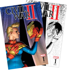 Civil War II #1 both