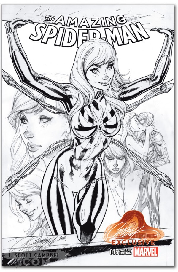 Variant Envy Amazing Spider Man 15 J Scott Campbell