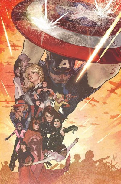 Uncanny Avengers Vol 3 #13 Cover B Incentive Adam Hughes Captain America 75th Anniversary Variant Cover (Civil War II Tie-In)